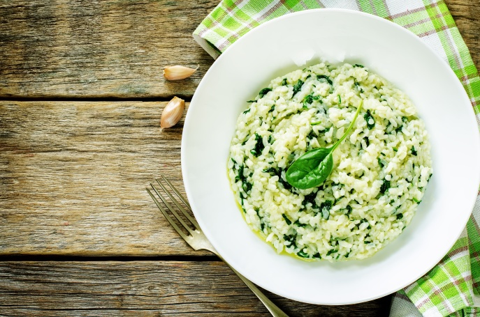risotto with spinach